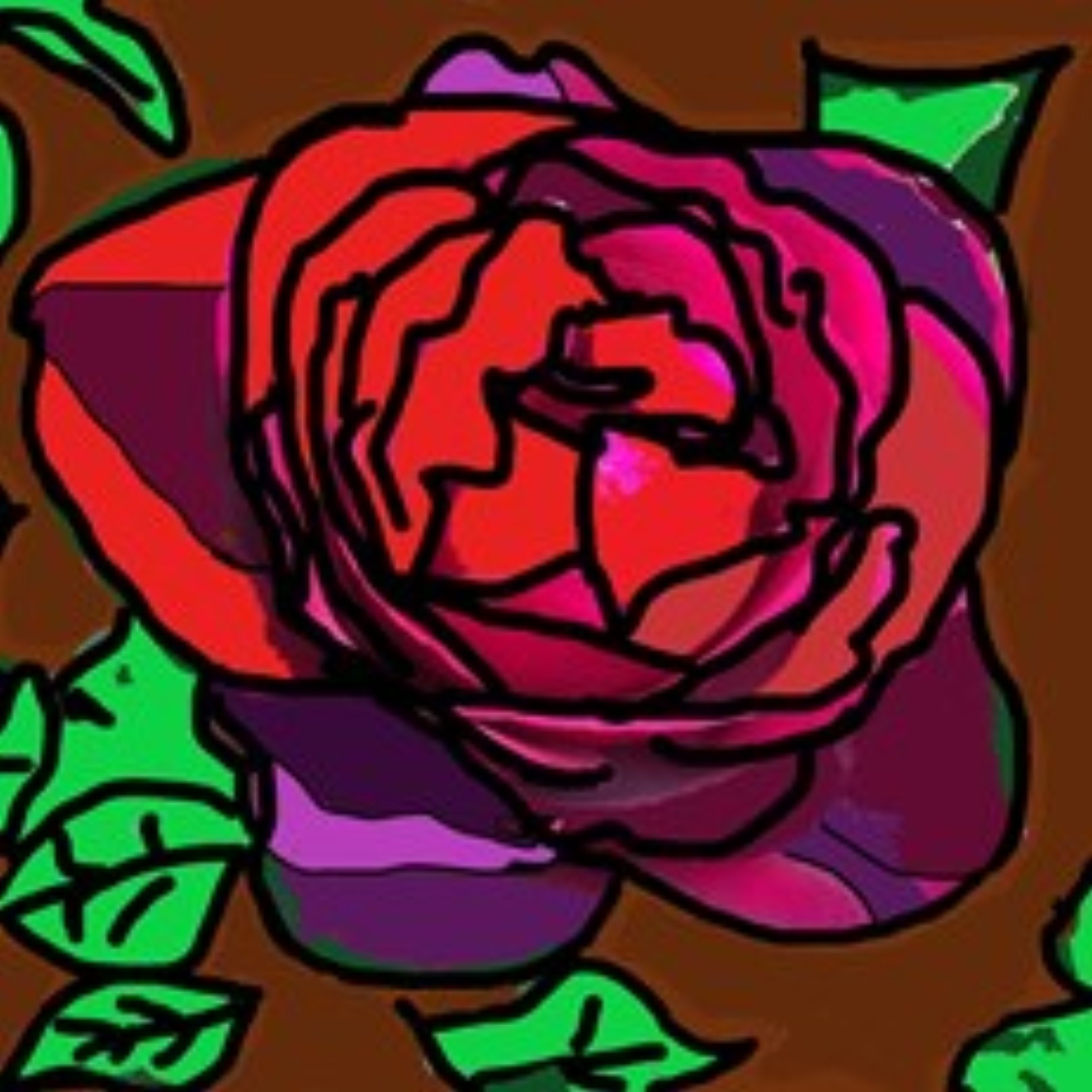 abstract image of a rose